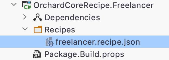Orchard Core recipe file